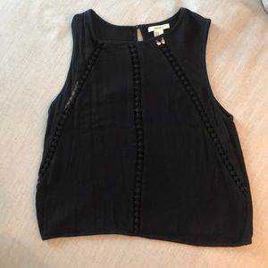 Forever 21, black crop top. Size M
